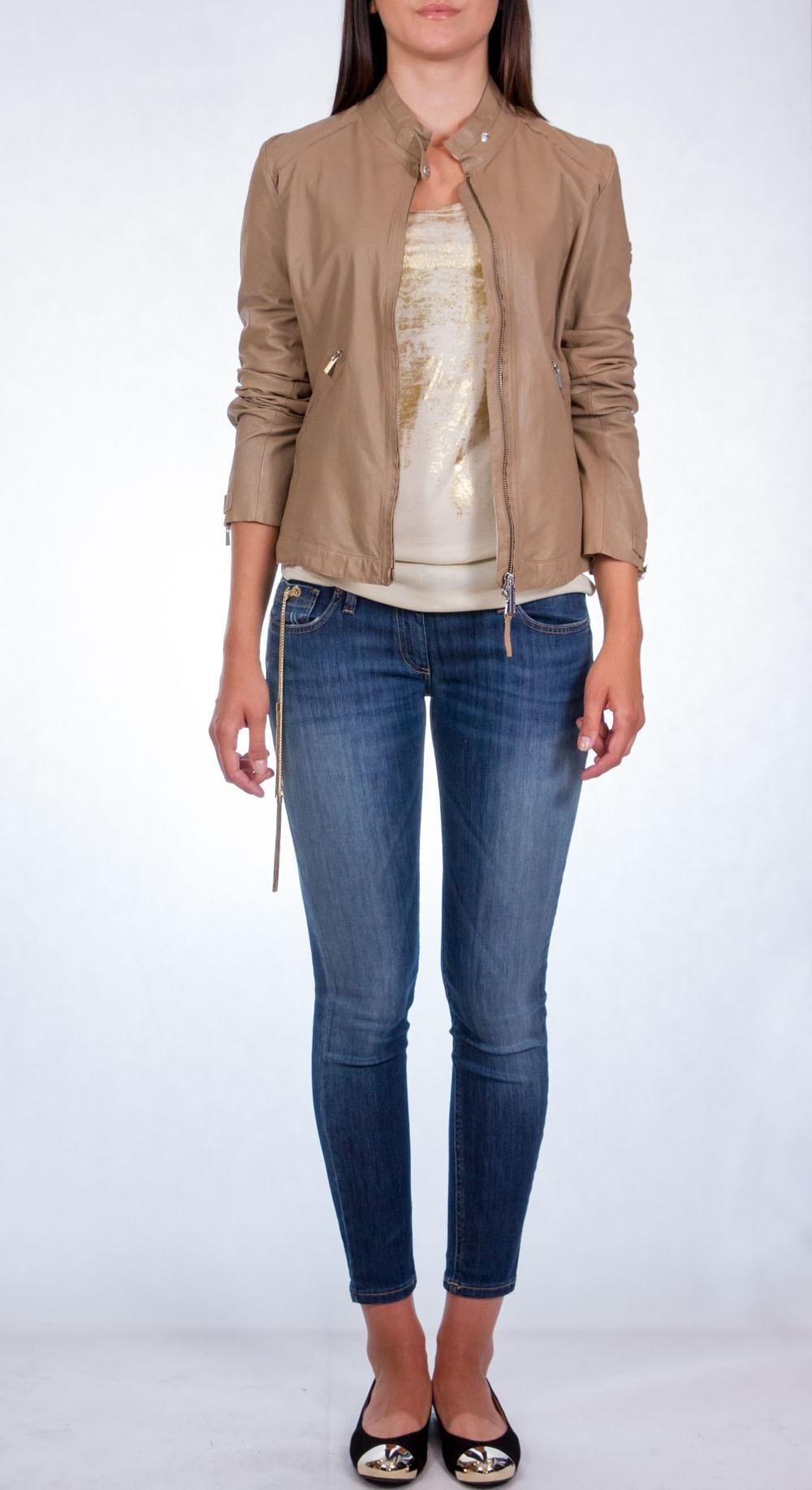 Kurtka skórzana armani jeans t5b28
