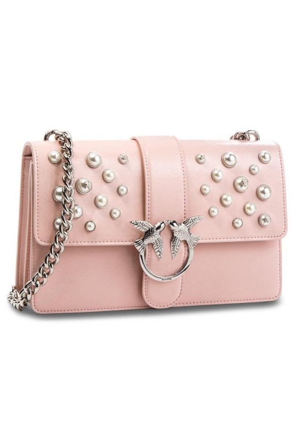 "PINKO TOREBKA ""LOVE LEATHER PEARLS"""