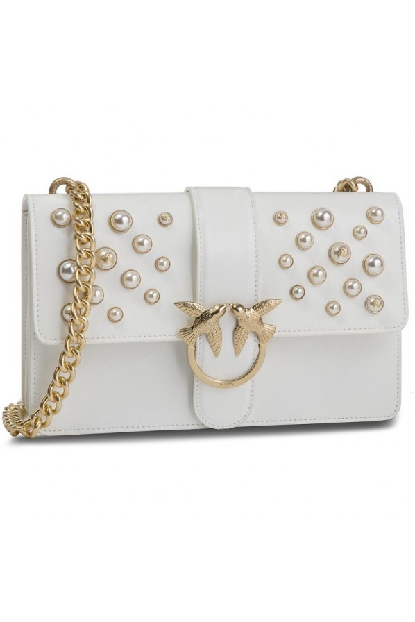 "PINKO TOREBKA ""LOVE LEATHER PEARLS"