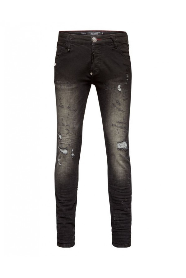 "PHILIPP PLEIN MEN JEANSY ""GOTIC P"""