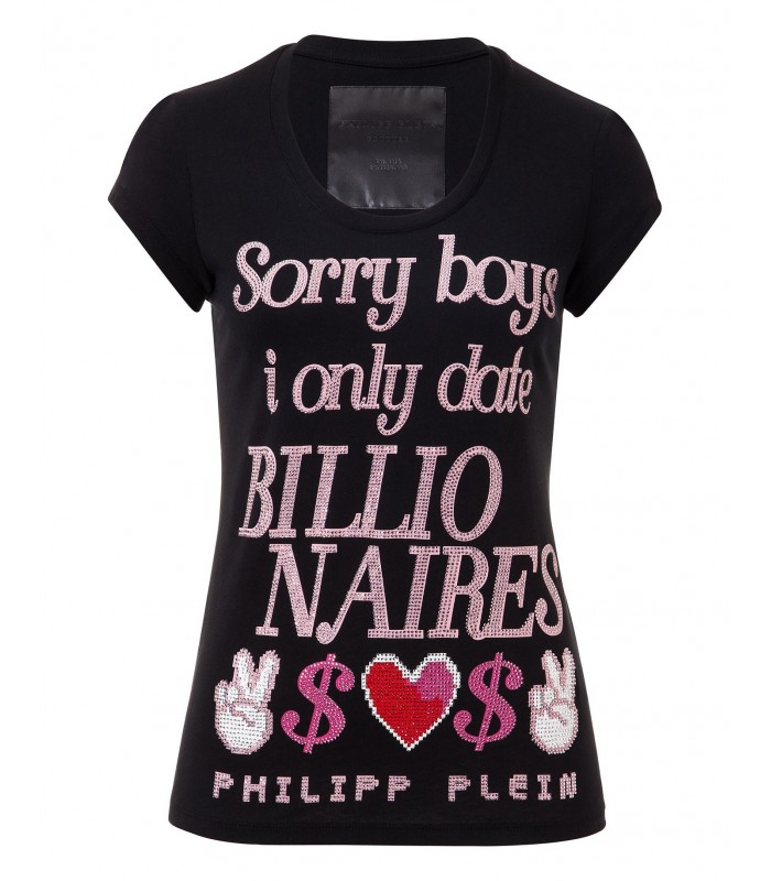 "PHILIPP PLEIN T-SHIRT ""SORRY BOYS"" CW341054"
