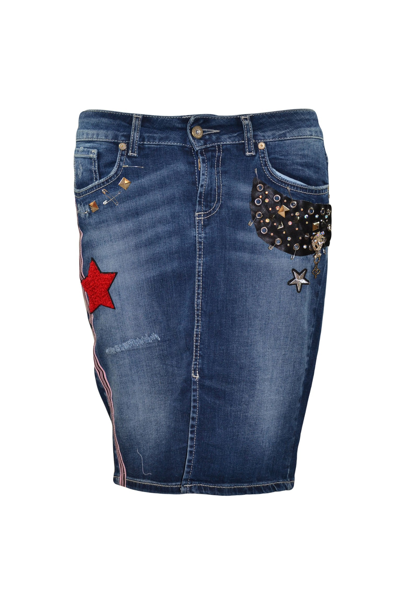 Rossodisera spódnica jeans j7840stella