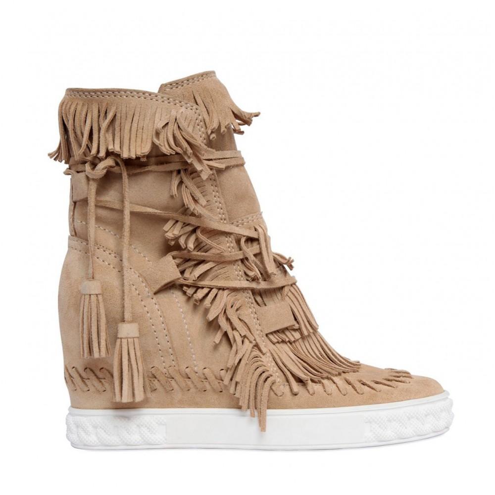 Casadei Sneakersy Z Fredzlami Catwalk Spolka Z O O